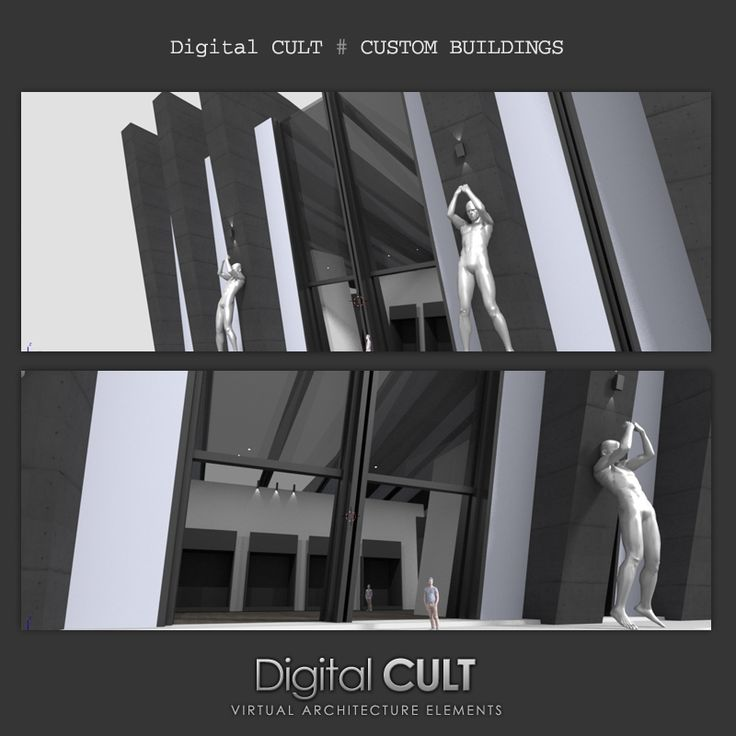 Digital CULT - virtual reality lab - here's a new CUSTOM building for Second life ---- MOM [Men Only Monthly] Sales events palace ---