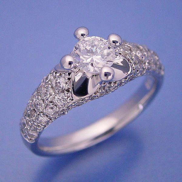 柔らかい印象の可愛い婚約指輪[R3112]