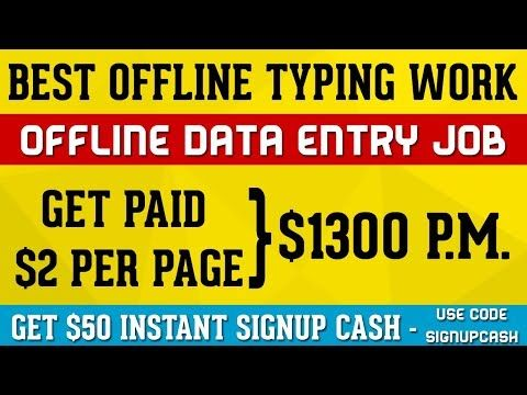 Data Entry Jobs - Get Paid $1300 for Offline Typing Job Work. Make Money Online $50 INSTANT CASH -  http://www.wahmmo.com/data-entry-jobs-get-paid-1300-for-offline-typing-job-work-make-money-online-50-instant-cash/ -  - WAHMMO