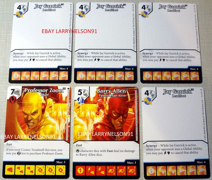 DC DICE MASTERS SPEEDSTERS MONTHLY OP FLASH BARRY ALLEN PROFESSOR ZOOM GARRICK #DCComics