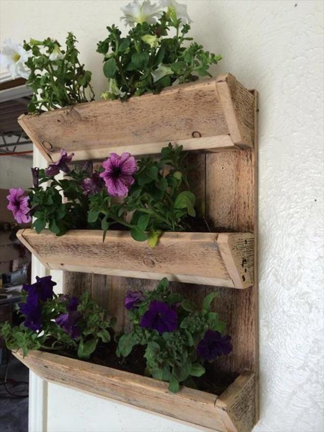 Simple But Beautiful 37 Diy Pallet Wall Garden Planter Acasă