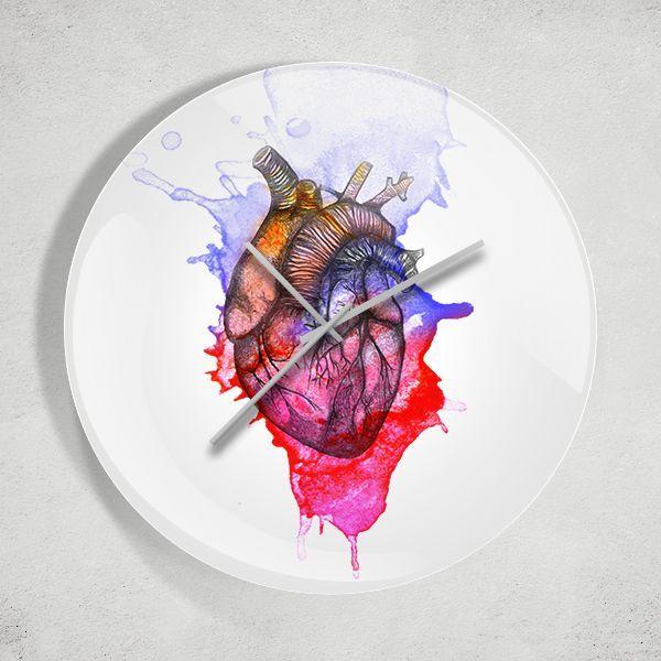Kalp İllüstrasyon Duvar Saati Zet.com'da 49.90 TL
