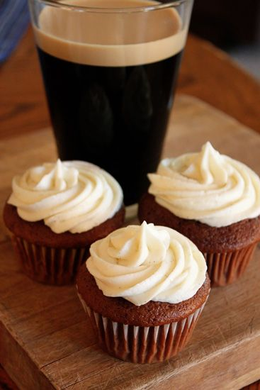 Stout Cupcakes- these are really yummy, the texture of the batter ends up making the cupcakes really fluffly! I couldn't find vanilla beans so I used vanilla extract- I want to try it again with the actual beans!