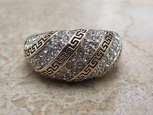 ANILLO DISEÑO GRIEGO DE ORO Y PLATA CON DIAMANTES,PARA BODA Y, COMPROMISO in Relojes y joyas, Vintage y joyería antigua | eBay