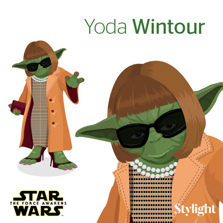 """With the release of """"Star Wars: The Force Awakens"""" Stylight transformed the likes of Karl Lagerfeld, Anna Wintour and Kanye West into Star Wars characters."""