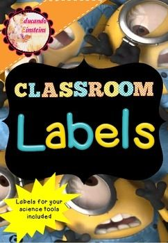 In this file you will find  two different sets of classroom labels with different backgrounds and letter fonts. Each set contains  6 pages with 8 labels each.Here, you will find  labels not only for your classroom supplies but also for your Science Lab tools*******************************************************************This file is part of my  Minion Mega Bundle resource, which you can find also at my store.
