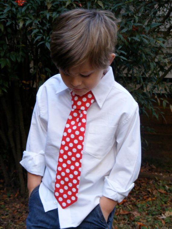 Red polka dot Christmas tie