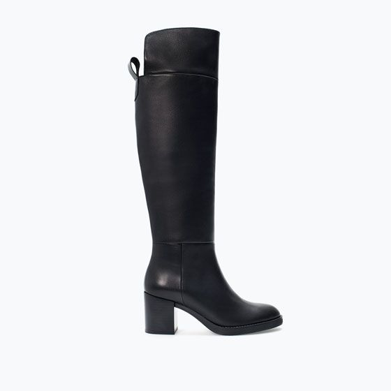 ZARA - SHOES & BAGS - HIGH HEEL LEATHER BOOT