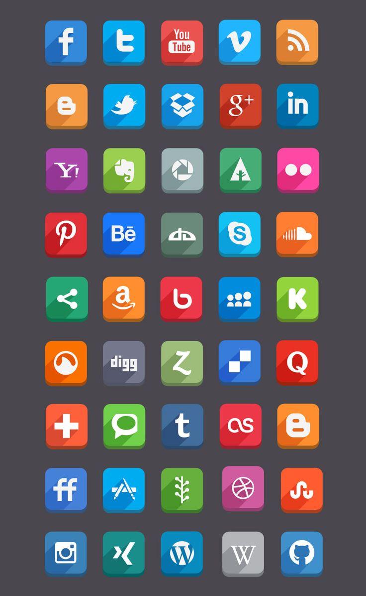 45 Social Media Icons