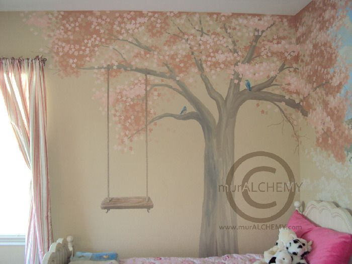cherry blossom mural - Mural Idea in