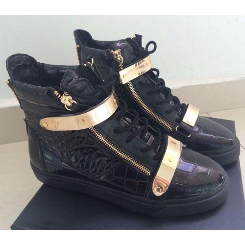 GIUSEPPE ZANOTTI - Tonal mi-Baskets en cuir : Chaussure Fashion
