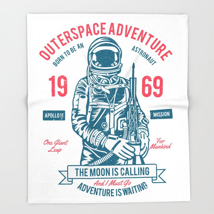 CYBER MONDAY - UP TO 40% OFF + FREE SHIPPING ON MOST ITEMS - ENDS TONIGHT AT MIDNIGHT PT!Buy Outer space Adventure - Born to be an astronaut Throw Blanket by augustinet. Worldwide shipping available at Society6.com. Just one of millions of high quality products available.