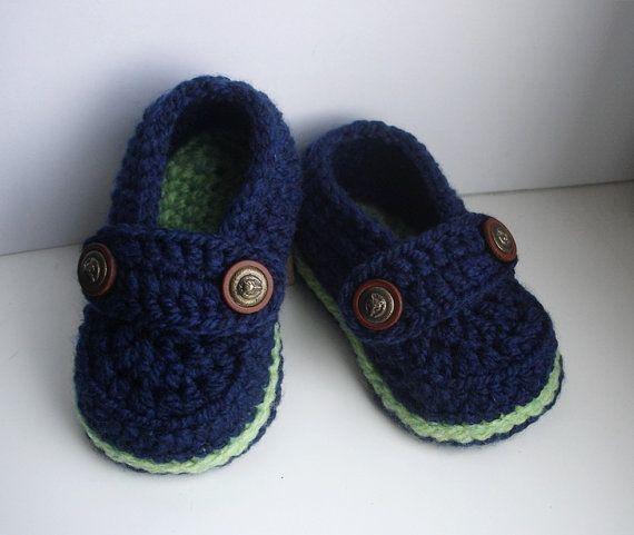 Facile Crochet Pattern mocassini Baby Baby Booties di Beatifico