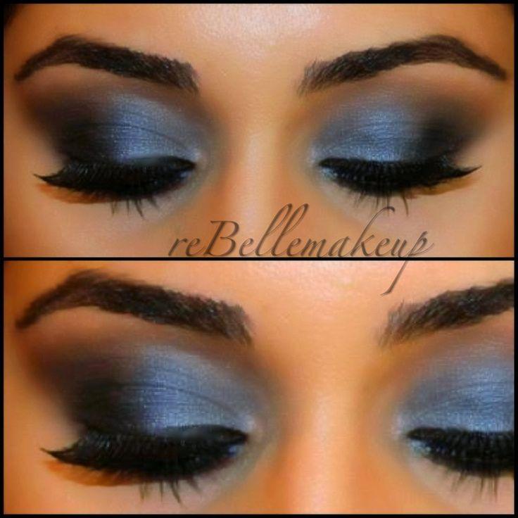 Blue Smokey Eye Rebellemakeup Makeup Maven Pinterest