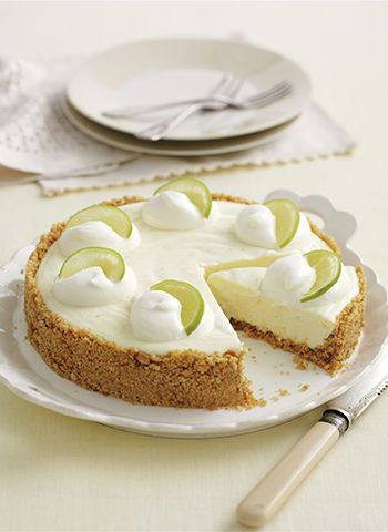 lemon and lime cheesecake: Alternatives; use ginger biscuits in base, and no added cream on top.