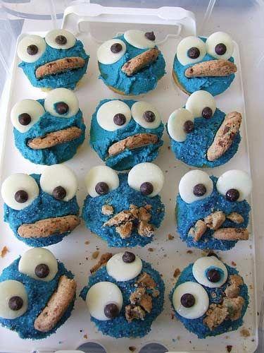 #cupcakes: Cookie Monster Cupcakes, Cookies Monsters Cupcakes, Birthday Parties, So Cute, Food, Cute Ideas, Recipes, Kids, Cupcakes Rosa-Choqu