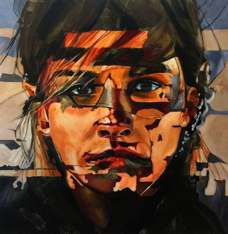 """""""yy=xy"""" a painting by artist Corne Eksteen. (1000 x 1000 mm, Oil on canvas.) 2015 - Find more on corneeksteen.com"""