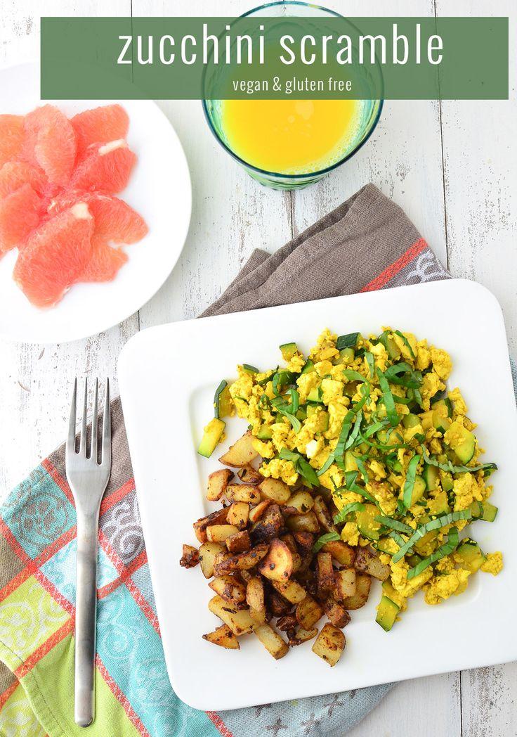 Zucchini Tofu Scramble - Delicious Knowledge   #glutenfree #meatlessmonday