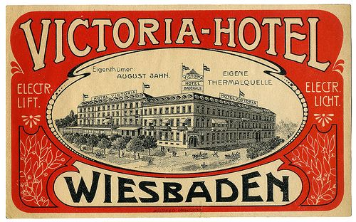 Victoria hotel Wiesbaden germany | Art of the Luggage Label | Flickr