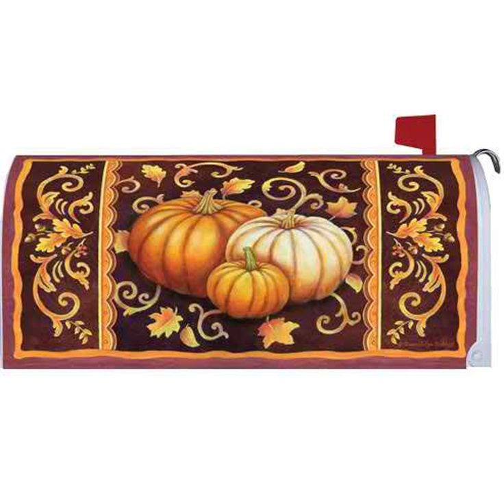 Fall Pumpkins Mailbox Cover