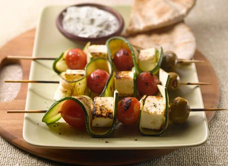 Grilled Canadian Feta Skewers - Recipes   All You Need is Cheese