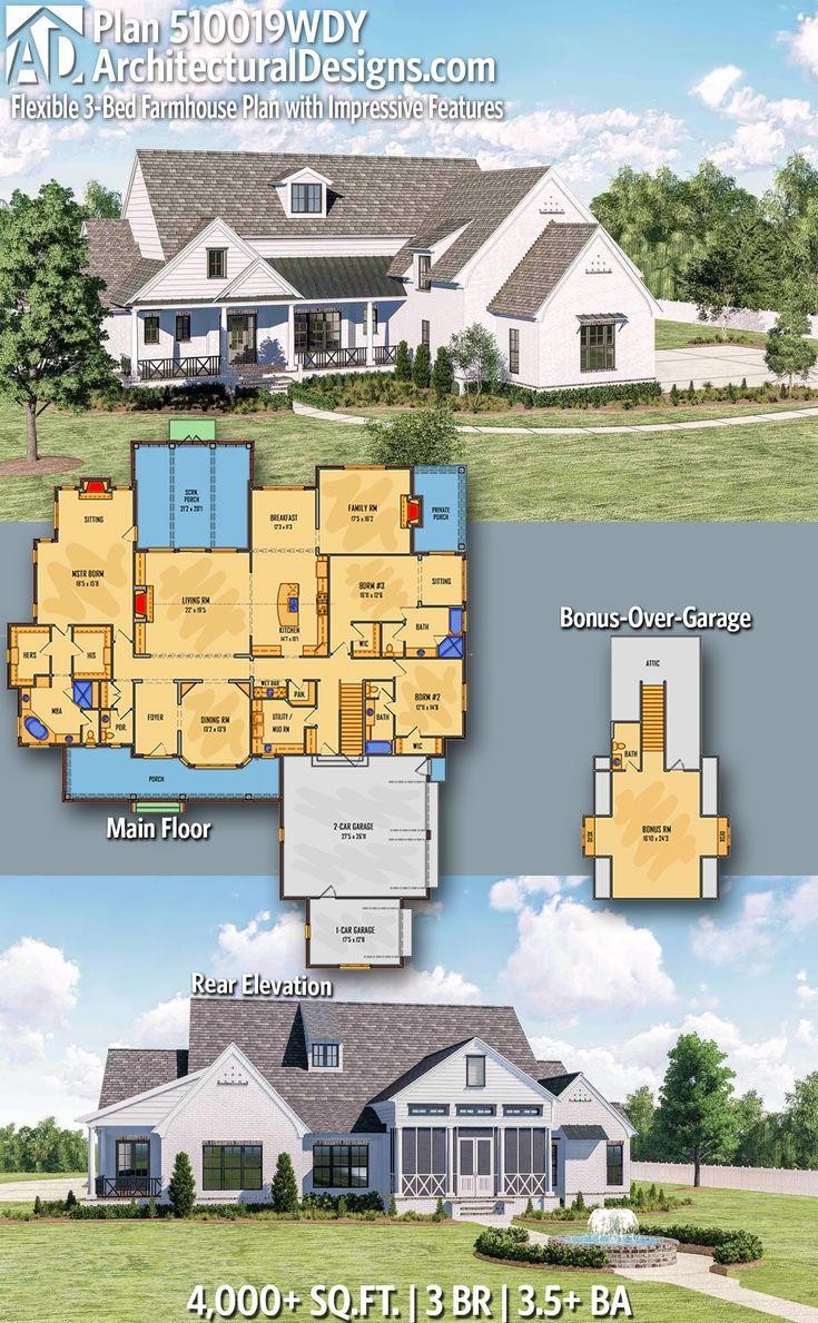 Architectural Designs Farmhouse House Plan 510019WDY has
