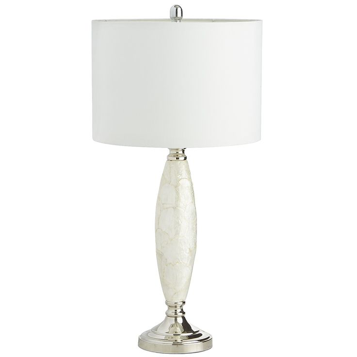 From Pier 1 Imports · Ivory Meris Capiz Table Lamp   Polyester