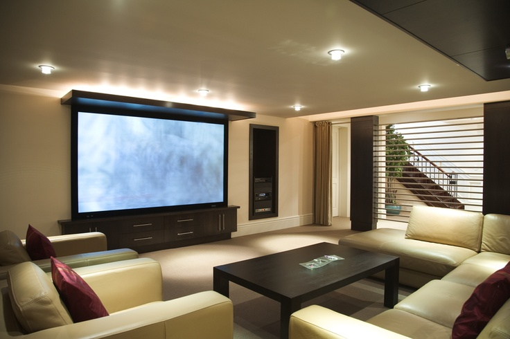 Contemporary home theatre. 88 Brentwood Road, Oakville