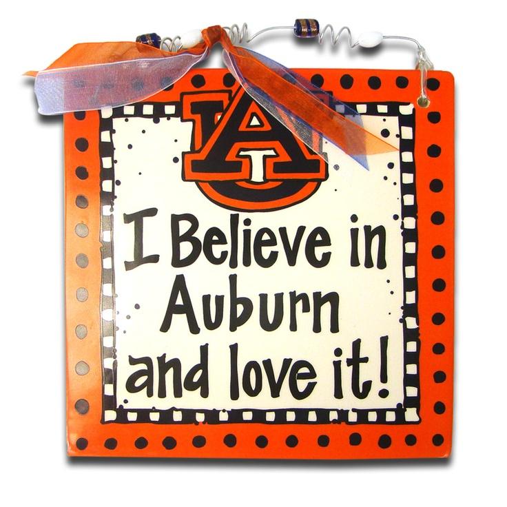 Plaque, I Believe In Auburn | Auburn University Bookstore