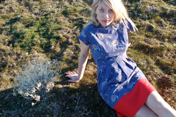 The PAISLEY DRESS Handmade and Designed by by vintagereformer, $49.99