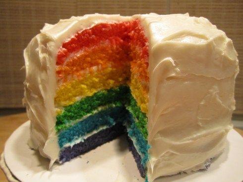 Rainbow Layer Birthday Cake « Smarty Party Recipes