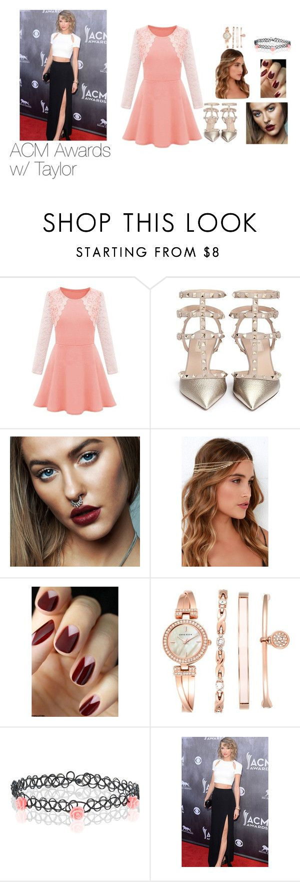 """""""AMC Awards"""" by radxsharon ❤ liked on Polyvore featuring Valentino, LULUS, Anne Klein and Accessorize"""