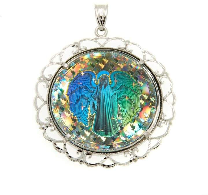 Michael Anthony Jewelry Angel Hologram Sterling Silver Pendant