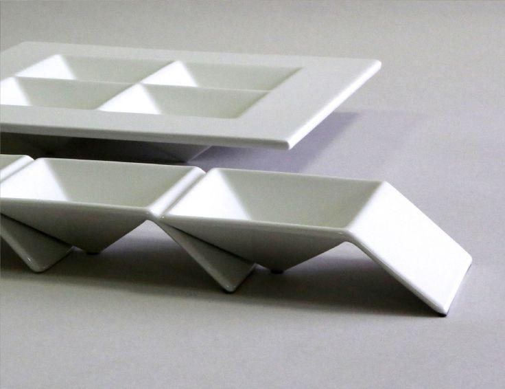 Figgio フィッギオ   Front   ピラミッド S 斬新なデザインが特徴的なお皿 ピラミッドMONOGOCOTI