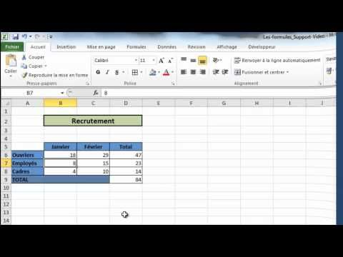 Excel Formation : calculs simples - Partie 1 - YouTube