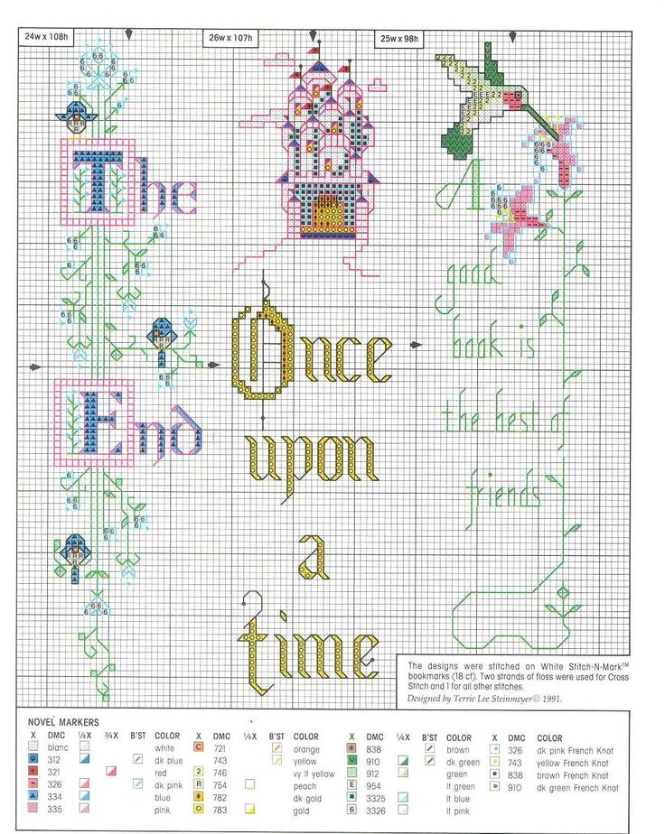 bookmarks cross stitch free patterns