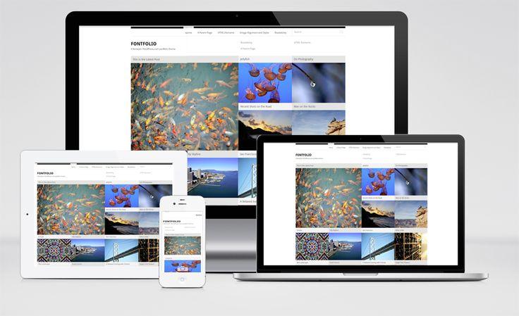 Fontfolio Plantilla WordPress.com Responsive Gratis tipo Portfolio Fotografía