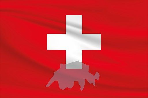 Schweiz, Flagge, Fahne, Banner, Rot