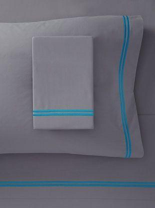 71% OFF Mason Street Textiles Two Cord Sheet Set (Grey/Artic Blue)