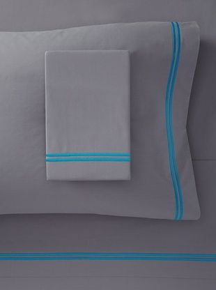 71% OFF Mason Street Textiles Two Cord Sheet Set (Grey/Artic Blue)