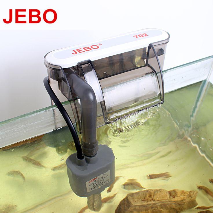 JEBO 3W Waterfall Aquarium Filter Pump Tank External Filter Wall-mountable Aquarium Surface Skimmer Increase Oxygen 702