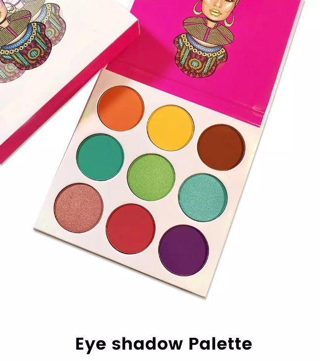Newest Limited Edition ZULU 9 Shades Matte Metallic Glitter Eyeshadow Palette #Unbranded