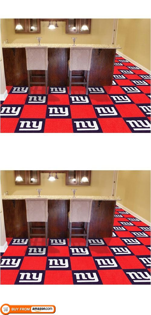 0a967c5050b ... Red And Gold Nylon 18 In · New York Giants NFL Team Logo Carpet Tiles  Your Basement