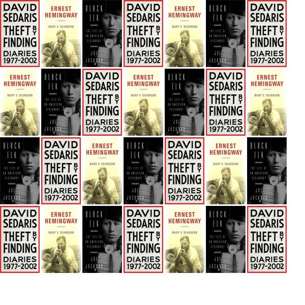 """Wednesday, June 7, 2017: The Charleston Library Society has two new bestsellers and one other new book in the Biographies & Memoirs section.   The new titles this week are """"Theft by Finding: Diaries,"""" """"Ernest Hemingway: A Biography,"""" and """"Black Elk: The Life of an American Visionary."""""""