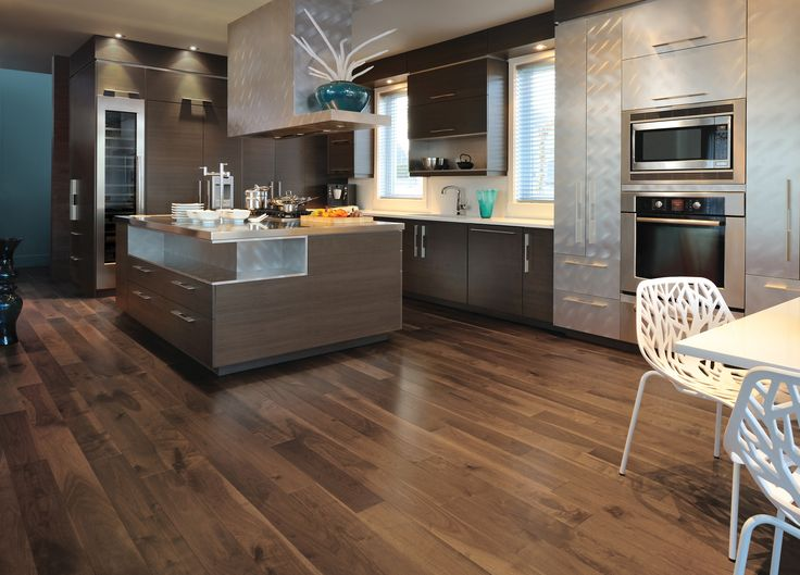 Beautiful Noyer Savanna Hardwood flooring, available at Palazzi Bros Tile & Granite.