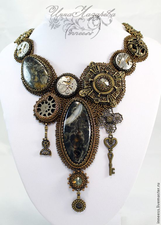 "Колье -Steampunk ""Only time"". Handmade."