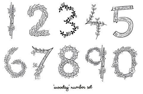 woodsy number set