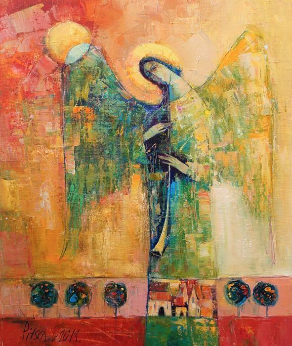 ANNA ART__ANIOŁ STRÓŻ__PITSKO obraz,ikona - 3964901399 - oficjalne archiwum allegro