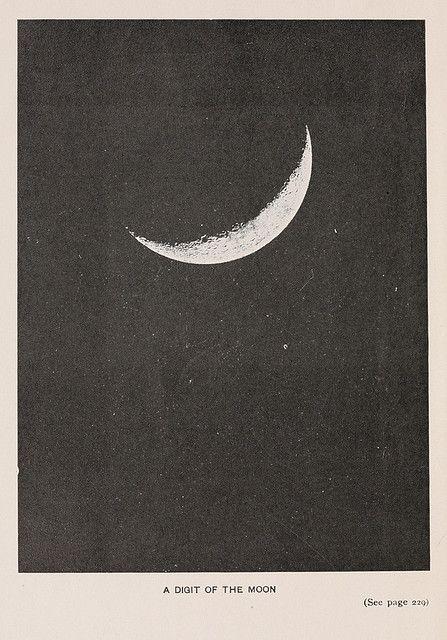 #art #print #moon #sliver #space