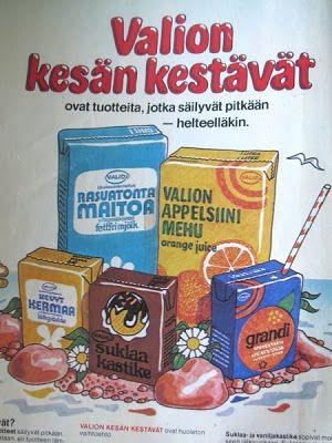 Valion lehtimainos 70-luvulta.